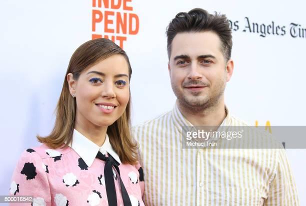 Aubrey Plaza and Matt Spicer arrive at the 2017 Los Angeles Film Festival closing night screening of 'Ingrid Goes West' held at Arclight Cinemas...