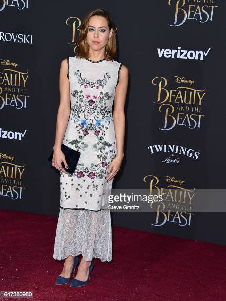 Aubrey Plaza arrives a the Premiere Of Disney's 'Beauty And The Beast' at El Capitan Theatre on March 2 2017 in Los Angeles California