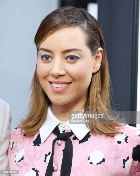 Aubrey Plaza arrives at the 2017 Los Angeles Film Festival closing night screening of 'Ingrid Goes West' held at Arclight Cinemas Culver City on June...