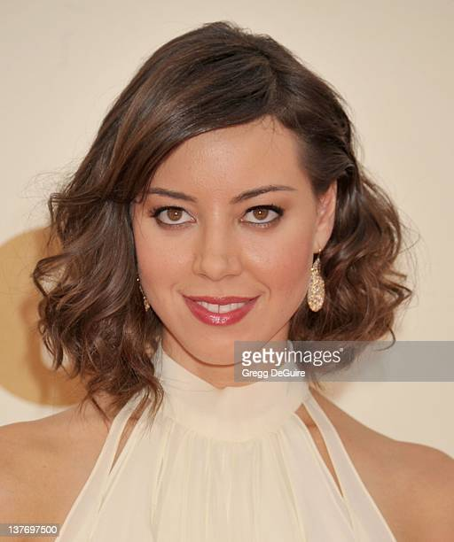 Aubrey Plaza arrives at the Academy of Television Arts Sciences 63rd Primetime Emmy Awards at Nokia Theatre LA Live on September 18 2011 in Los...