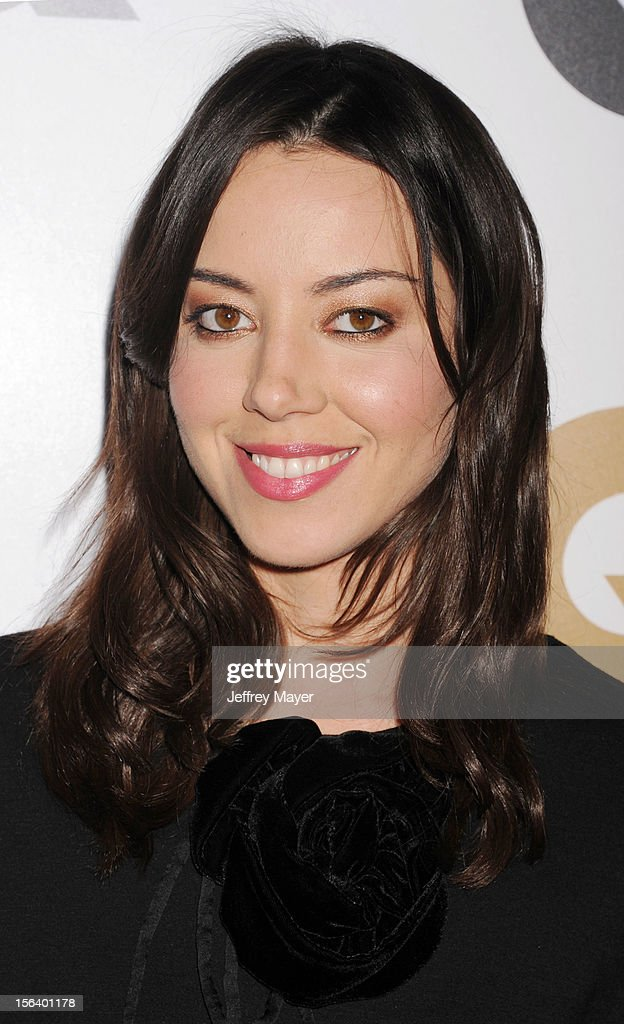 Aubrey Plaza arrives at the GQ Men Of The Year Party at Chateau Marmont Hotel on November 13, 2012 in Los Angeles, California.
