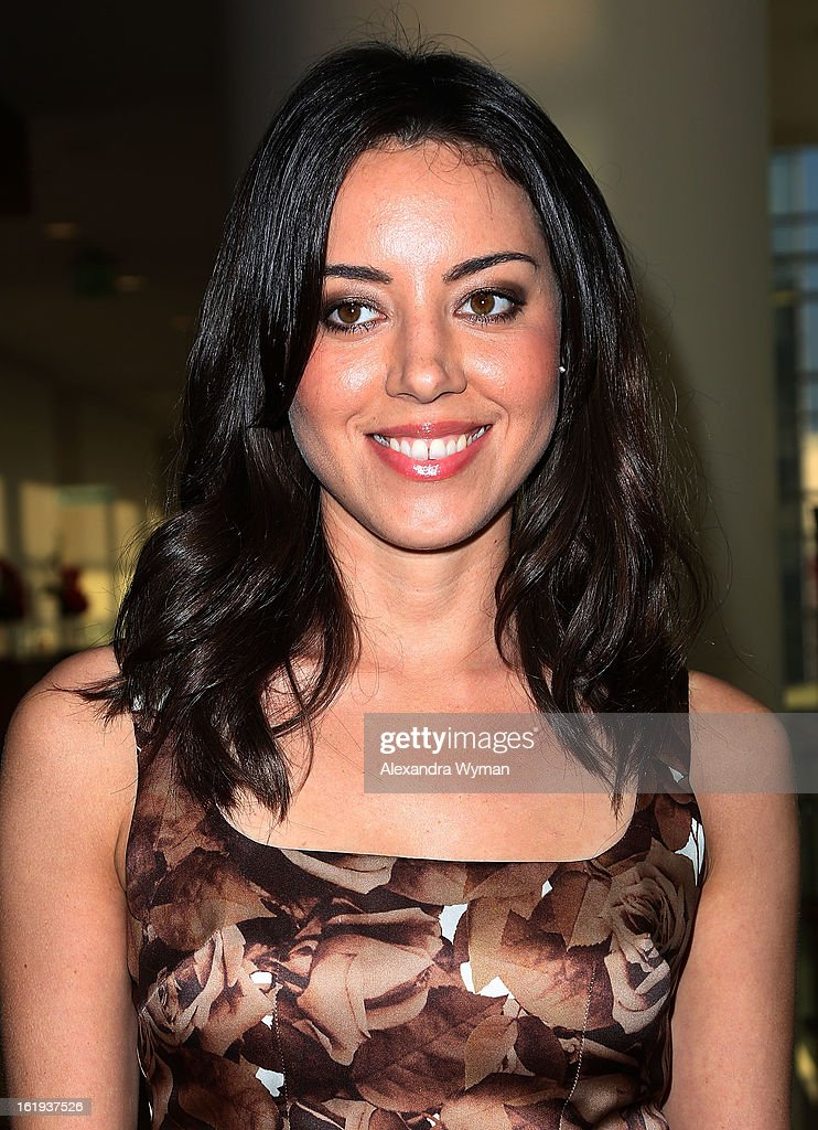 <a gi-track='captionPersonalityLinkClicked' href=/galleries/search?phrase=Aubrey+Plaza&family=editorial&specificpeople=5299268 ng-click='$event.stopPropagation()'>Aubrey Plaza</a> at The 2013 Writers Guild Awards Arrivals held at The JW Marriott Los Angeles at L.A. LIVE on February 17, 2013 in Los Angeles, California.