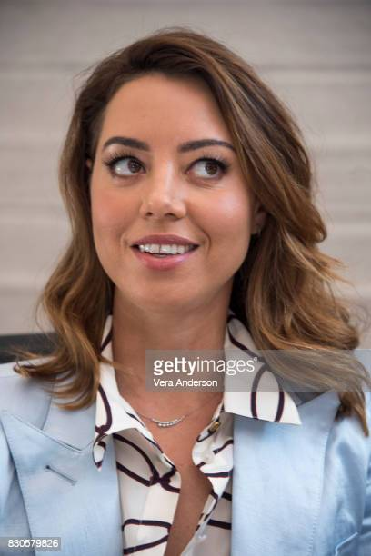 Aubrey Plaza at the 'Ingrid Goes West' Press Conference on August 10 2017 in West Hollywood California
