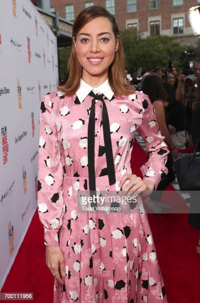 Aubrey Plaza attends the 2017 Los Angeles Film Festival Closing Night Screening Of 'Ingrid Goes West' at Arclight Cinemas Culver City on June 22 2017...