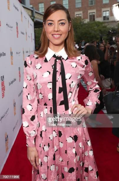Aubrey Plaza attends the 2017 Los Angeles Film Festival Closing Night Screening Of 'Ingrid Goes West' at Arclight Cinemas Culver City on June 22 2017...