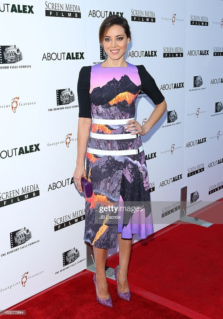 <a gi-track='captionPersonalityLinkClicked' href=/galleries/search?phrase=Aubrey+Plaza&family=editorial&specificpeople=5299268 ng-click='$event.stopPropagation()'>Aubrey Plaza</a> attends the 'About Alex' Los Angeles premiere held at the Arclight Theater on August 6, 2014 in Hollywood, California.
