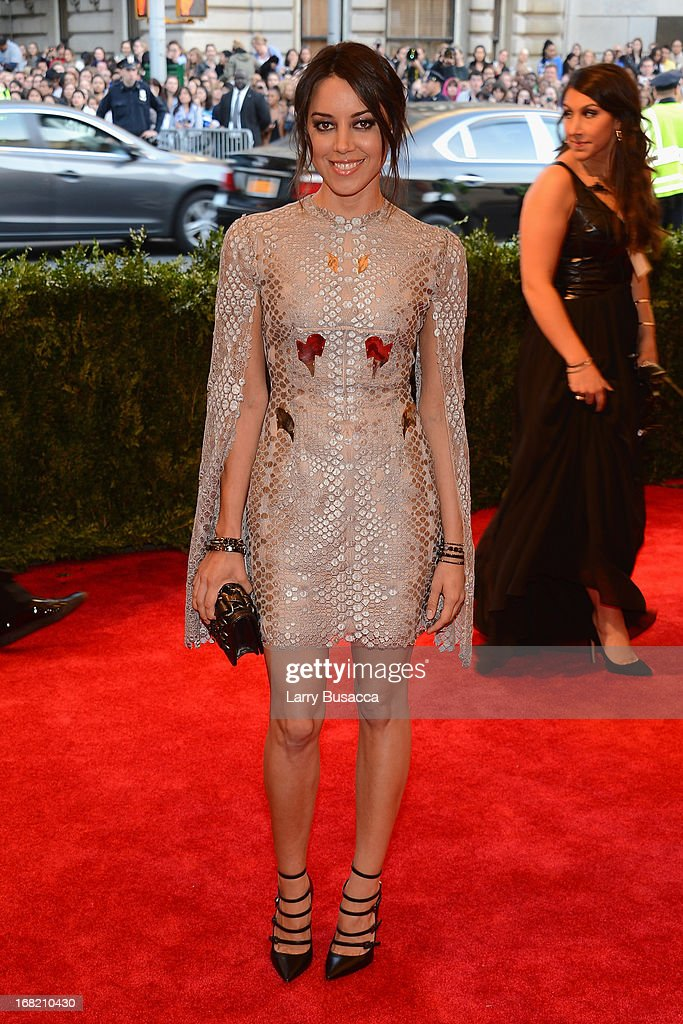 Aubrey Plaza attends the Costume Institute Gala for the 'PUNK: Chaos to Couture' exhibition at the Metropolitan Museum of Art on May 6, 2013 in New York City.