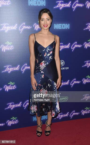 Aubrey Plaza attends the Neon Hosts The New York Premiere of 'Ingrid Goes West' at Alamo Drafthouse Cinema on August 8 2017 in the Brooklyn borough...