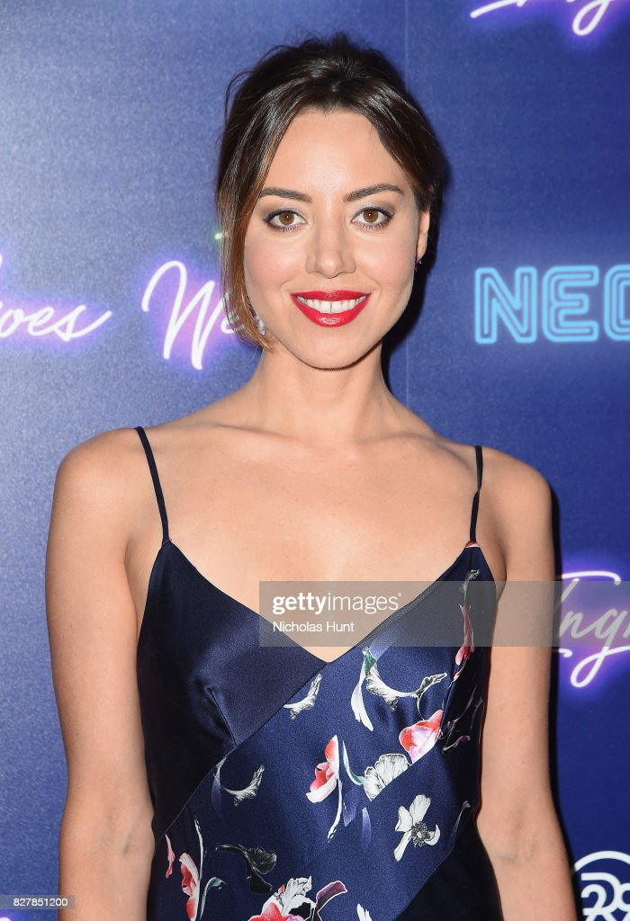 Aubrey Plaza attends the Neon Hosts The New York Premiere of 'Ingrid Goes West' at Alamo Drafthouse Cinema on August 8, 2017 in the Brooklyn borough of New York City.