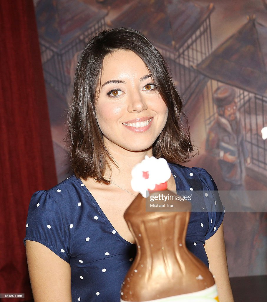 <a gi-track='captionPersonalityLinkClicked' href=/galleries/search?phrase=Aubrey+Plaza&family=editorial&specificpeople=5299268 ng-click='$event.stopPropagation()'>Aubrey Plaza</a> attends the 'Parks And Recreation' 100th episode celebration held at CBS Studios - Radford on October 16, 2013 in Studio City, California.