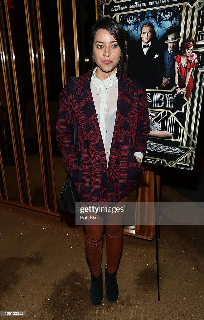 Aubrey Plaza attends the pre-Met Ball special screening of 'The Great Gatsby' after-party at The Top of The Standard on May 5, 2013 in New York City.