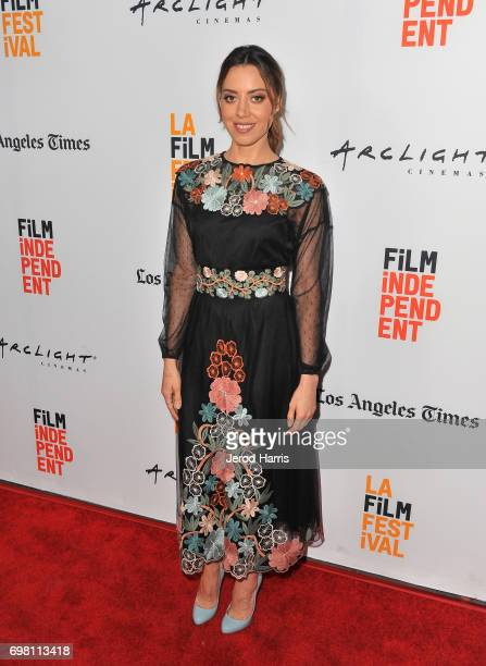 Aubrey Plaza attends the screening of 'The Little Hours' during 2017 Los Angeles Film Festival at Arclight Cinemas Culver City on June 19 2017 in...