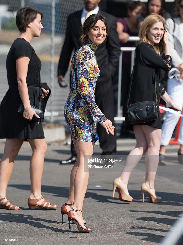 Aubrey Plaza is seen in Santa Monica on February 21 2015 in Los Angeles California