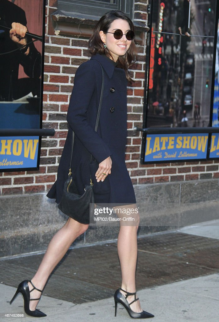 Aubrey Plaza seen at Late Show with David Letterman on March 24 2015 in New York City