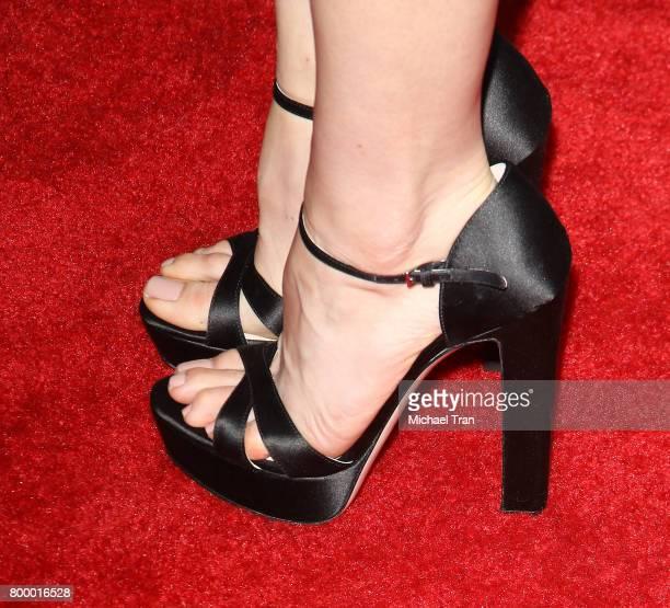Aubrey Plaza shoe detail arrives at the 2017 Los Angeles Film Festival closing night screening of 'Ingrid Goes West' held at Arclight Cinemas Culver...