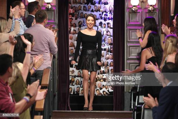 Aubrey Plaza visits with James Corden during 'The Late Late Show with James Corden' Thursday August 10 2017 On The CBS Television Network