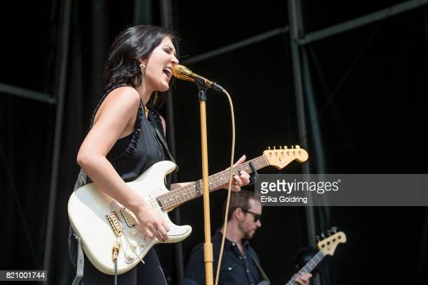 Aubrie Sellers performs during Faster Horses Festival at Michigan International Speedway on July 22 2017 in Brooklyn Michigan