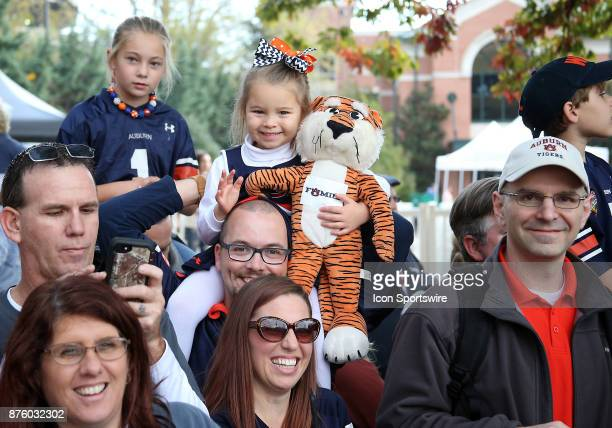 Auburn fans await the players and coaches for Tiger Walk during a football game between the Auburn Tigers and the LouisianaMonroe Warhawks Saturday...