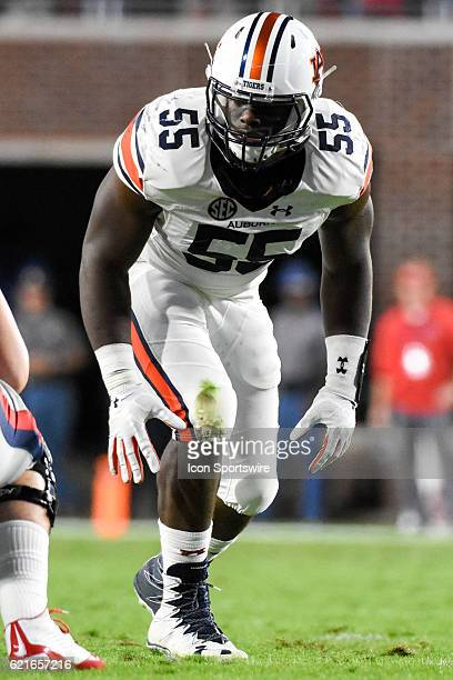 Auburn Tigers defensive lineman Carl Lawson during the football game between Auburn and Ole Miss on October 29 at VaughtHemingway Stadium in Oxford...