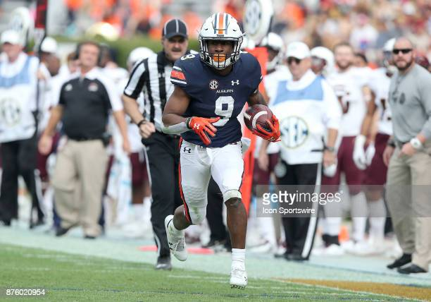 Auburn Tigers running back Kam Martin runs for a touchdown during a football game between the Auburn Tigers and the LouisianaMonroe Warhawks Saturday...