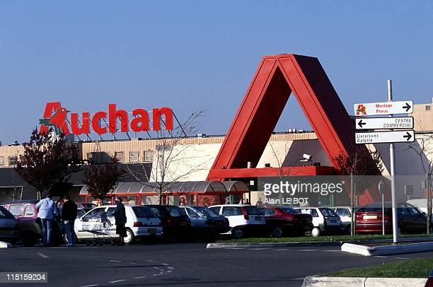 Auchan hypermarket in Nantes France on March 21 2000