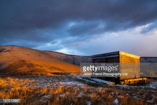 Auchope Refuge, The Cheviot Hills, Northumberland : Stock Photo