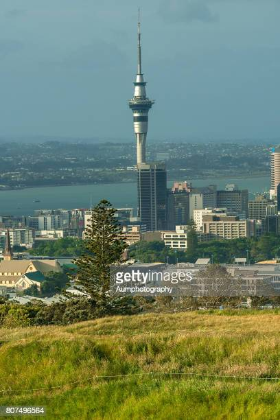 Auckland city from Mount eden view point , New Zealand.