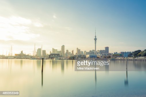 Auckland city in the morning