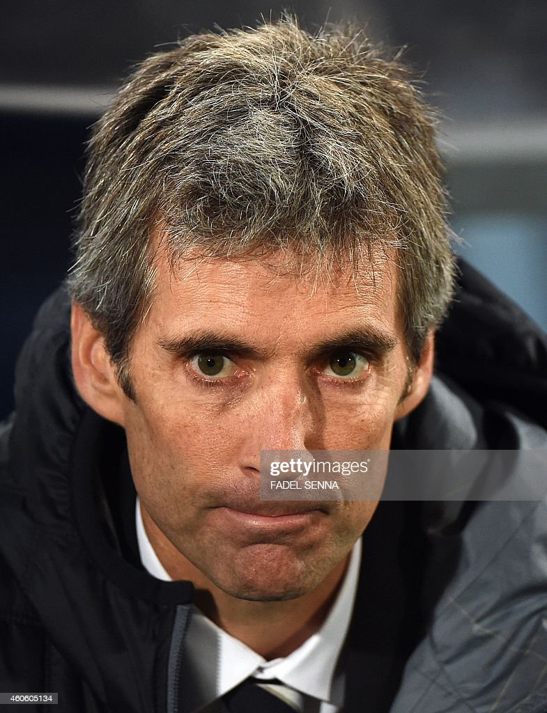 Auckland City's coach <a gi-track='captionPersonalityLinkClicked' href=/galleries/search?phrase=Ramon+Tribulietx&family=editorial&specificpeople=8703160 ng-click='$event.stopPropagation()'>Ramon Tribulietx</a> looks on during the FIFA Club World Cup semifinal football match San Lorenzo vs Auckland City FC at the Marrakesh stadium in the Moroccan city of Marrakesh on December 17, 2014. AFP PHOTO/ FADEL SENNA