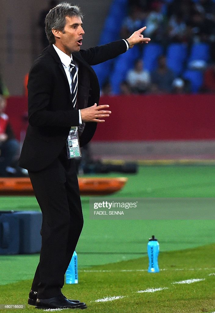 Auckland City's Spanish head coach <a gi-track='captionPersonalityLinkClicked' href=/galleries/search?phrase=Ramon+Tribulietx&family=editorial&specificpeople=8703160 ng-click='$event.stopPropagation()'>Ramon Tribulietx</a> gestures during his FIFA Club World Cup third place football match against Cruz Azul at Marrakesh stadium in Marrakesh on December 20, 2014. AFP PHOTO / FADEL SENNA