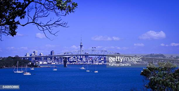 Auckland Harbour Bridge and Waitemata Harbour