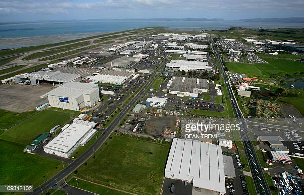 Auckland International Airport is seen with the existing southern runway terminals and infrastructure in Auckland 04 October 2007 Construction is...