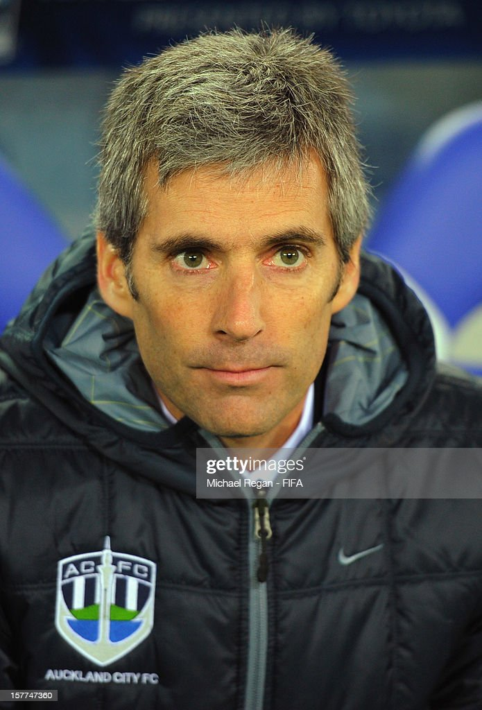 Auckland manager Ramon Tribulietx looks on from the bench before the FIFA Club World Cup match between Sanfrecce Hiroshima and Auckland City at International Stadium Yokohama on December 6, 2012 in Yokohama, Japan.