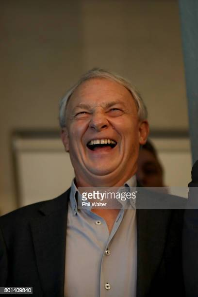 Auckland Mayor Phil Goff watches the racing at the Royal New Zealand Yacht Squadron as Team New Zealand win the Americas Cup over Oracle on June 27...