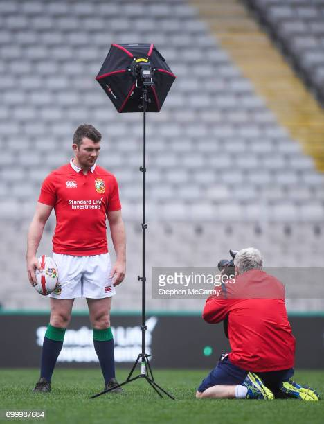 Auckland New Zealand 23 June 2017 Peter O'Mahony British Irish Lions captain for the 1st test against the New Zealand All Blacks poses for a portrait...