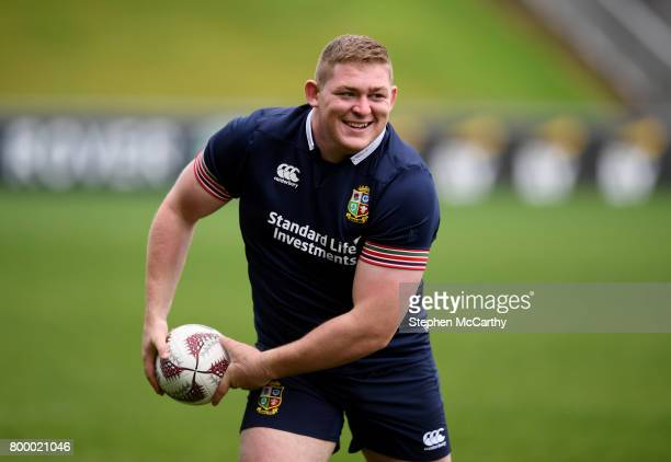 Auckland New Zealand 23 June 2017 Tadhg Furlong of the British Irish Lions during their captain's run at QBE Stadium in Auckland New Zealand