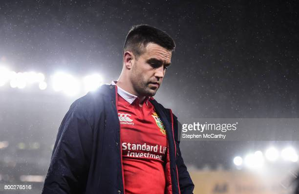 Auckland New Zealand 24 June 2017 Conor Murray of the British Irish Lions following the First Test match between New Zealand All Blacks and the...