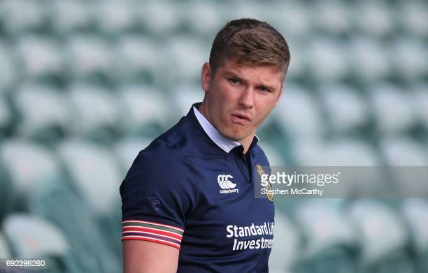 Auckland New Zealand 5 June 2017 Owen Farrell of the British Irish Lions during a training session at the QBE Stadium in Auckland New Zealand