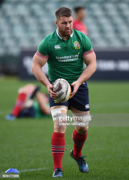 Auckland New Zealand 6 July 2017 Sean O'Brien during a British and Irish Lions training session at QBE Stadium in Auckland New Zealand