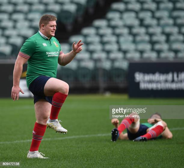 Auckland New Zealand 6 July 2017 Tadhg Furlong during a British and Irish Lions training session at QBE Stadium in Auckland New Zealand