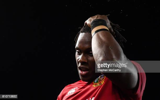 Auckland New Zealand 8 July 2017 Maro Itoje of the British Irish Lions following the Third Test match between New Zealand All Blacks and the British...