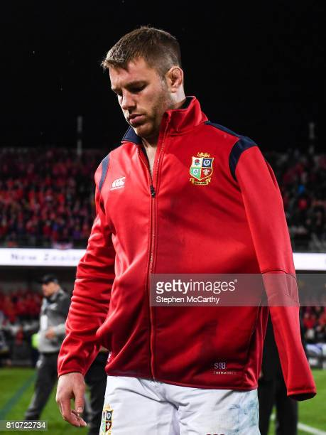 Auckland New Zealand 8 July 2017 Sean O'Brien of the British Irish Lions following the Third Test match between New Zealand All Blacks and the...