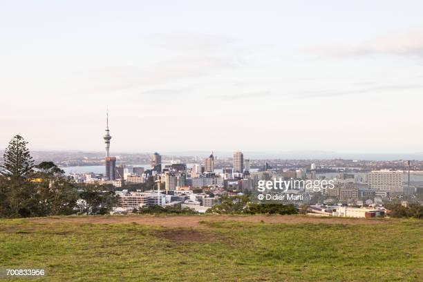 Auckland skyline in New Zealand