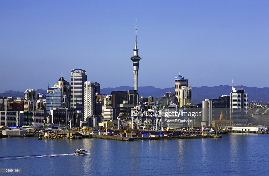 Auckland skyline with Sky Tower : Stock Photo