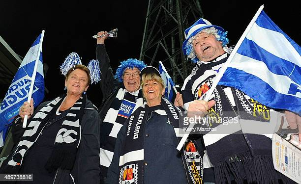 Auckland supporters arrive for the the ITM Cup match between Hawke's Bay and Auckland at McLean Park on September 24 2015 in Napier New Zealand
