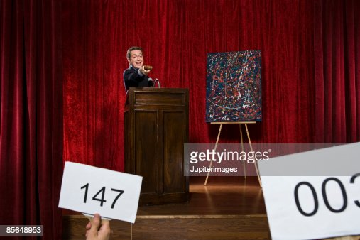 Auctioneer and painting