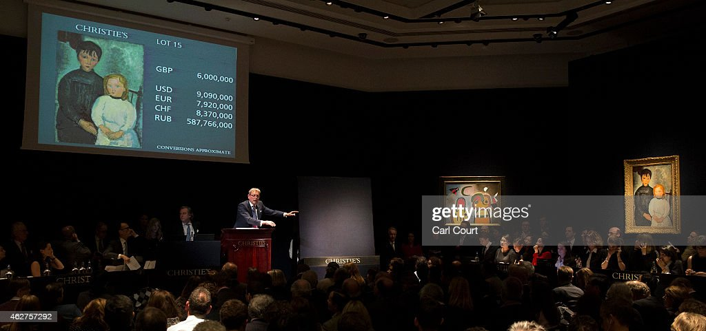 Christies Hold Multi Million Pound Art Sale