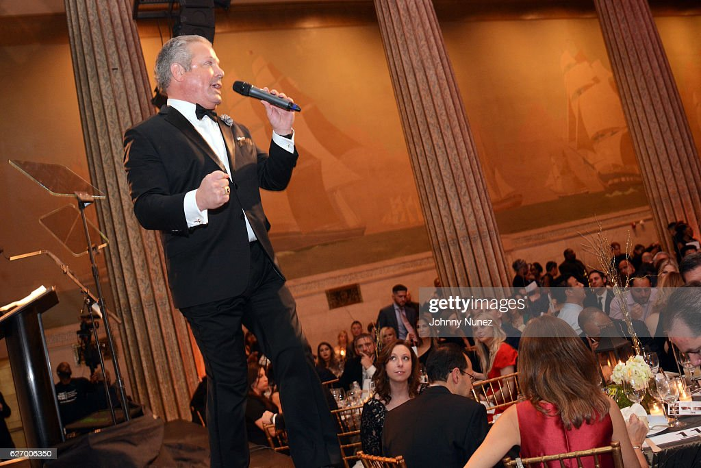 Auctioneer Keith Jones appears onstage at the 8th Annual Christian Rivera Foundation Celebrity Fundraiser at Broad Street Ballroom on November 30, 2016 in New York City.