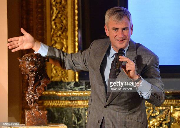 Auctioner Edward Rising during the Bell Pottinger Charity Dinner hosted for Northwood African Education Foundation at Lancaster House on November 4...