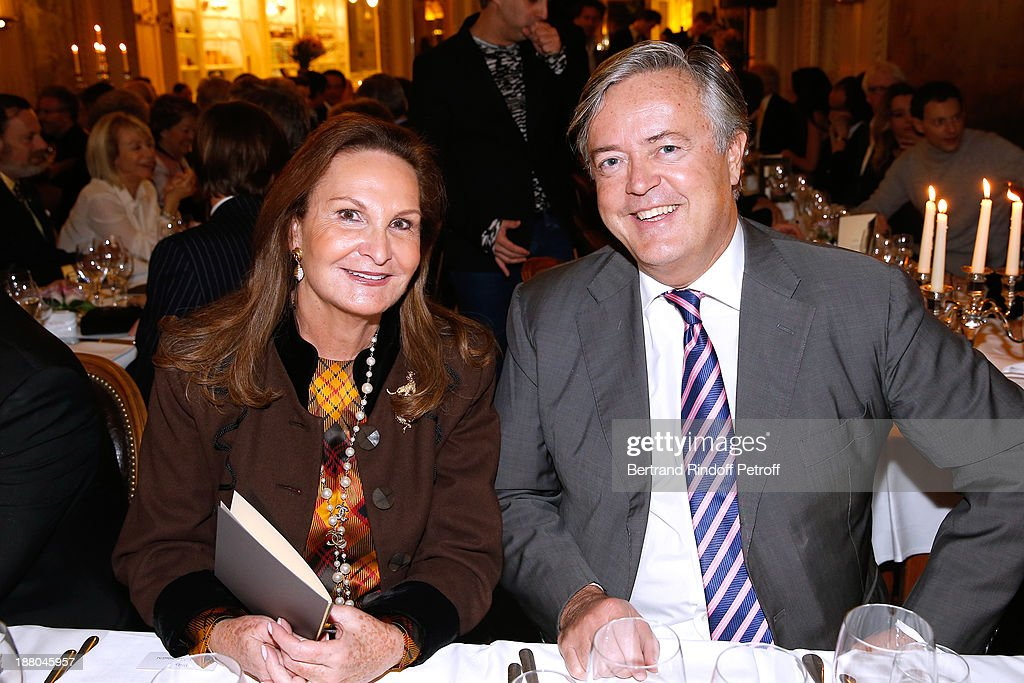 Auctionner Remy Le Fur and and Guest attend the 50th Anniversary party of Stephane Bern, called 'Half a century, it's party', celebrated at Angelina on November 14, 2013 in Paris, France.